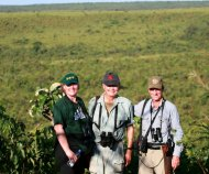 Martin Edwards (World Bird Species Life List of 8450 Jan 2012), his daughter Barbara and Andy at Emas National Park.