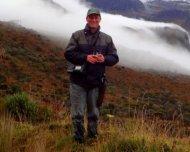 Andy birding the paramo of Natural National Park Los Nevados